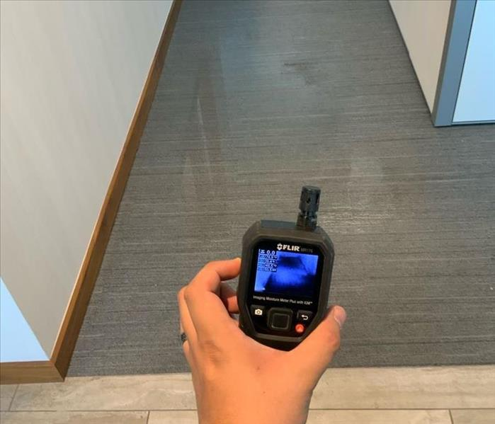 Thermal imaging is being used at a water loss.