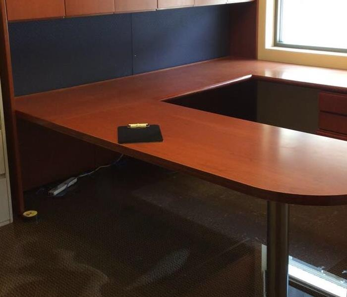 Office Desk Water Damage